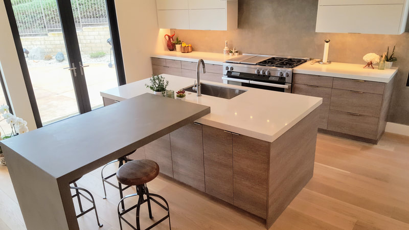 Sleek Kitchen by Marvin at Woodcrafters International in San Clemente.